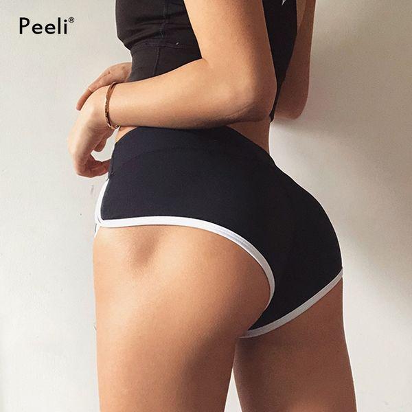 Peeli Women Push Up Sports Short Fitness Athletic High Waist Yoga Shorts Activewear Quick Dry Gym Short Workout Running Leggings #74985