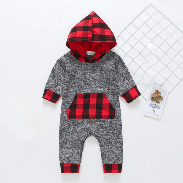 Hooded Newborn Romper Winter 100% Cotton Jumpsuit for Baby Winter Onesie 3-18 Months Infant Thanksgiving Outfits Clothes for Boys and Girls