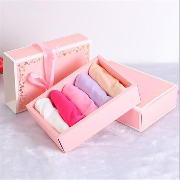 10pcs Gold Foil Printed Paper Box Drawer Matches Packing Boxes Party Candy Box Pink Panty Storage