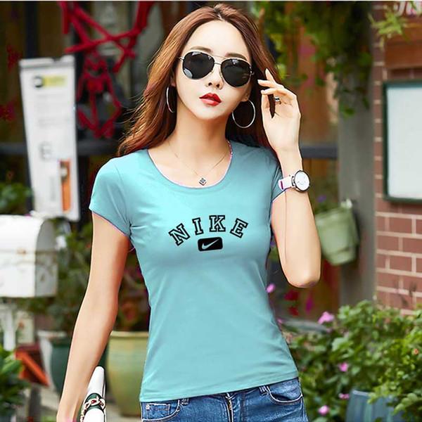 Женская футболка Повседневная Дышащая Мягкая Pure Color Поглощение влаги с круглым вырезом Летняя футболка Хлопок Blend Размер M-XXXL