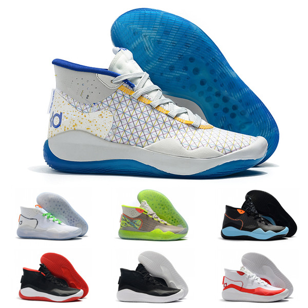 Mvp Durant 12 high Basketball Shoes kd 12 Anniversary University 12S Designer Sports Sneakers Trainers shoes 40-46