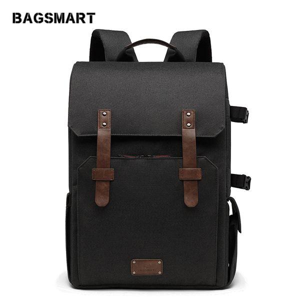 "heap Backpacks BAGSMART Multifunctional Camera Backpack for SLR/DSLR Cameras 15.6\"" Laptop Camera Bag with Waterproof Rain cover Tripod M..."