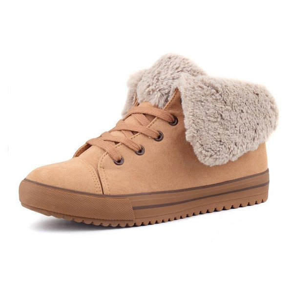 Nice Pop-tideing Spring Autumn Winter Velutinous Thermal Liner Snow Boots High-top Winter Boots Shoes Woman