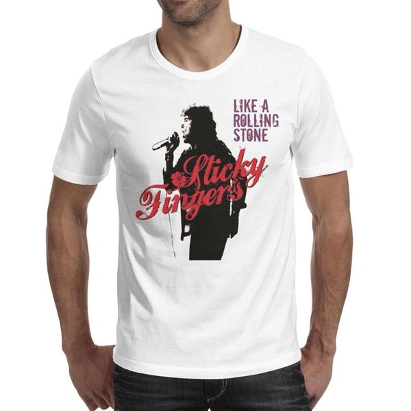 Men's tshirt Like a Rolling Stones Short Sleeve t-shirt Cotton Casual Fashion Shirt