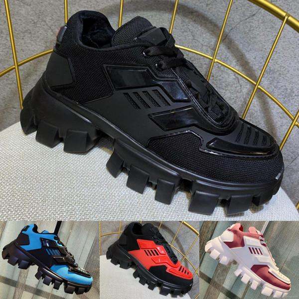L'arrivée de nouveaux hommes Cloudbust de Thunder Sneakers Knit Luxury Designer Oversize Sneaker Lumière caoutchouc Sole Formateurs 3D Femmes grande taille Triple Chaussures