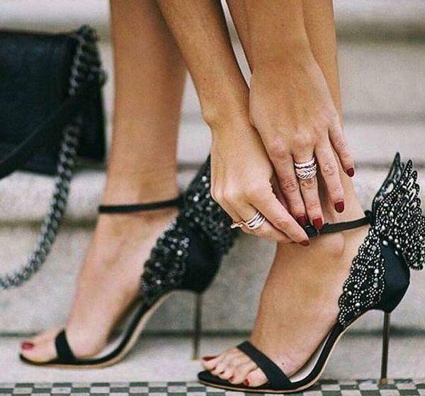 2019 Sophia Webster Evangeline Angel Wing Sandal Plus Size 42 Genuine leather Wedding Pumps Pink Glitter Shoes Women Butterfly Sandals Shoes