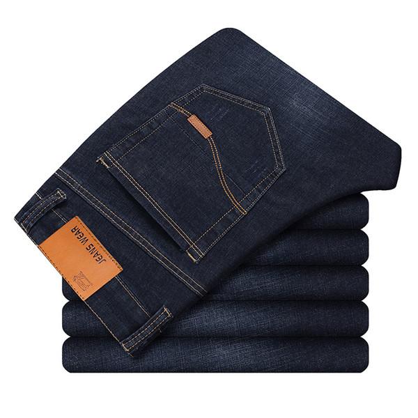 2019 Mens Inverno Azul Velo Jeans Forrado Stretch Denim Jeans Quentes Para Homens Designer Slim Fit bikrer juventude 28-38