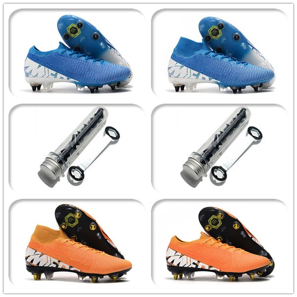 top popular Mercurial Superfly 7 Elite SG-PRO AC Mens Youth Junior soccer cleats Anti Clog Shoes outdoor football boots 2020