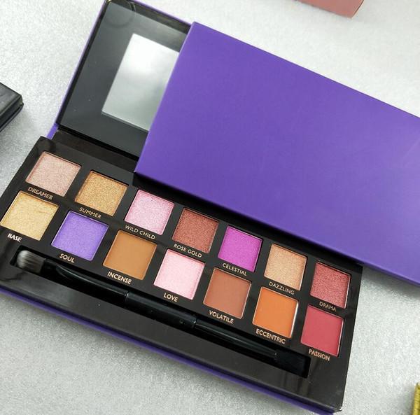 Hot Makeup renaissance eye shadow Palette 14colors limited eye shadow palette with brush eyeshadow palette free Shipping