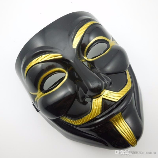 Wholesale The Black V for Vendetta Party Cosplay Mask Anonymous Guy Fawkes Costume Accessory halloween mask