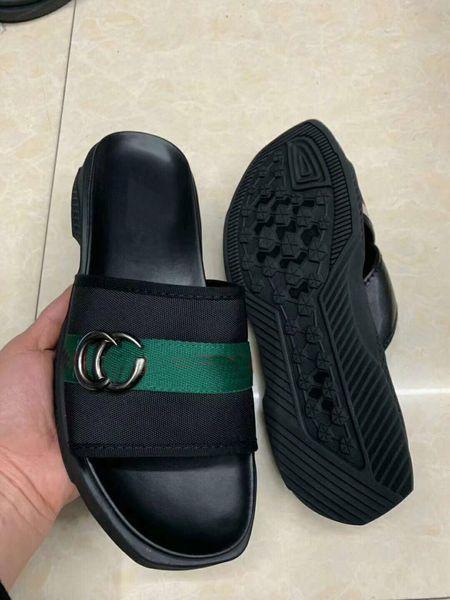 Men Designer Luxury Leather sandals MIX 30 models wide slipper slide slip on flat open toe sandals size 38-46