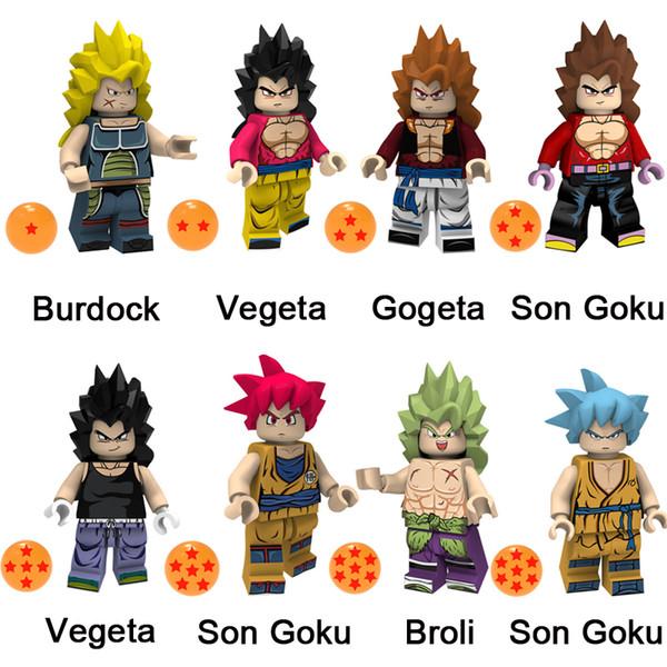 Acheter Janpan Cartoon Dragon Ball Z Vegeta Super Saiyan Bardane Gogeta Son Goku Broli Mini Action Figure Building Blocks Jouets Pour Les Enfants De
