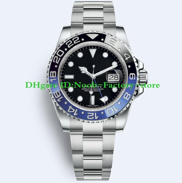 13 styles Luxury New GMT II Automatic Movement Stainless Steel Dive Basel 40MM 116710 116710BLNR 126715CHNR Mens Watch Watches Original Box