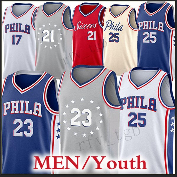 4e12525b 25 Ben Simmons Philadelphia Men 76ers jerseys city 23 Jimmy Butler 21 Joel  Embiid jersey 17