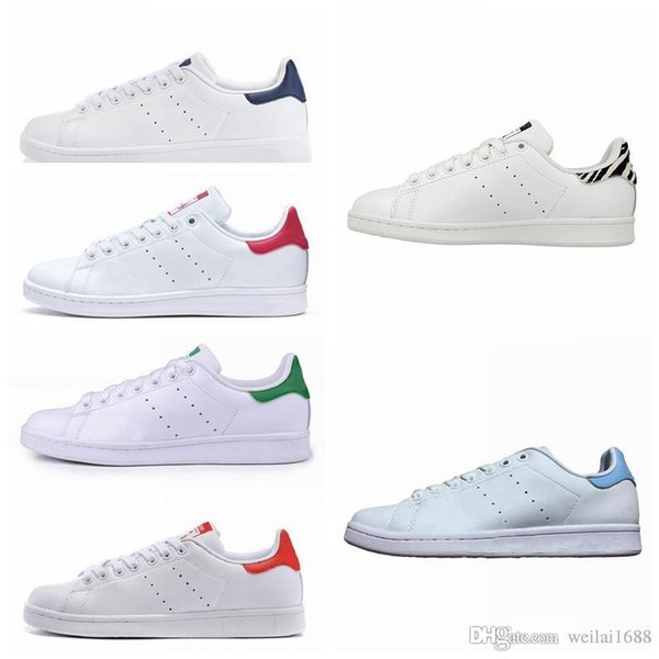 2019 New Designer High quality Stan Shoes Brand Smith Leather Men Classic Flats Casual fashion luxury mens women designer sandals shoes