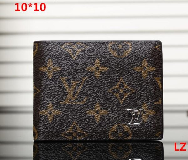 Promotion new mens leather top Wallet Men Brand Coin Wallet Small Clutches Men's Purse Coin Pouch Short Men Wallet 0617