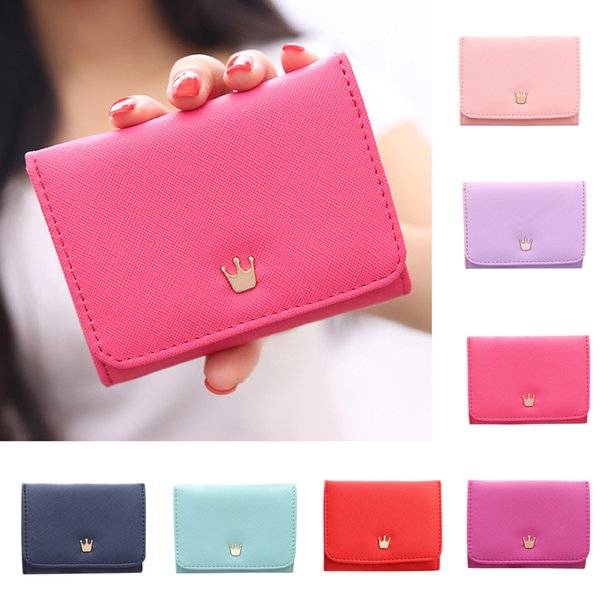 Women Wallets Crown Decorated Mini Money Purses Small Coin Purse Card Holder Bag  2019 New Portafoglio donna#30