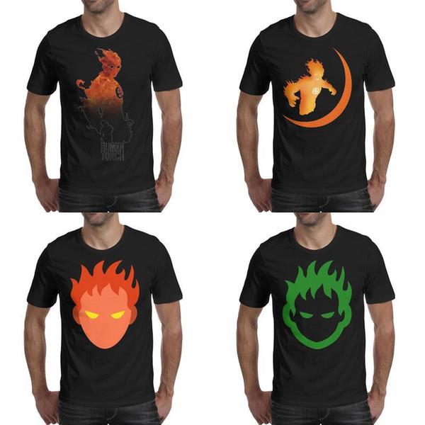 Mens impression humain torche fantastique quatre flammes t-shirt noir drôle rétro faire un chemises classique quatre feu comique araignée homme icônes du visage Ben