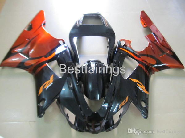 ZXMOTOR Hot sale fairing kit for YAMAHA R1 1998 1999 black red fairings YZF R1 98 99 5M18