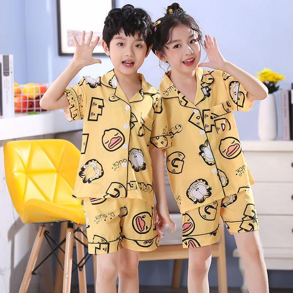 UK Toddler Baby Boy Girl Silk Satin Pyjamas PJS Set Child Sleepwear Nightgown