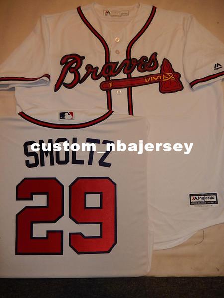 Cheap custom JOHN SMOLTZ Baseball Cool Base JERSEY Stitched Customize any name number MEN WOMEN BASEBALL JERSEY XS-5XL