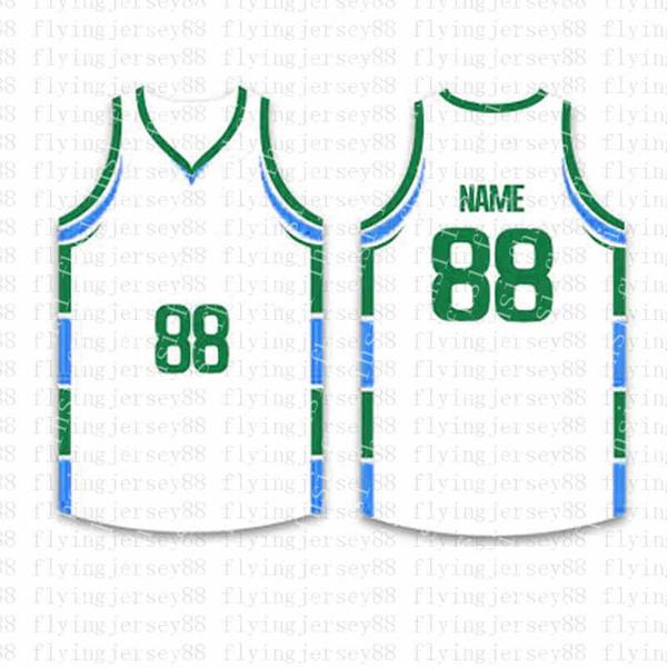 Лучшие Пользовательские Баскетбол Трикотажные мужские Вышивка логотипов Джерси Бесплатная доставка Дешевые оптовая любое имя любое число Размер S-XXL fjol5