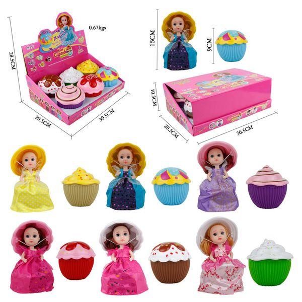 15 cm Doll Mini Cupcake Princess Magic Toys Popular For Girls Birthday With Display Box 12 Pcs / Set