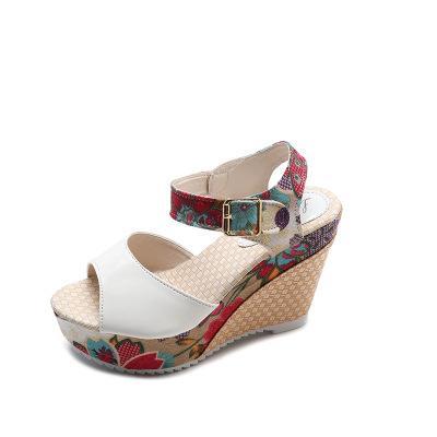 2019 النساء الصنادل الجديدة دليل أحذية نمط الوطنية للمرأة أحذية مريحة Slipsole أحذية القطن أم لينة