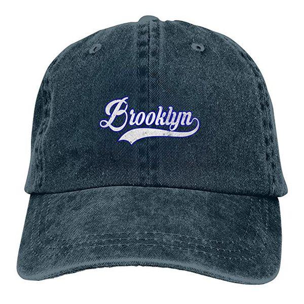 Nueva 2019 Barato Gorros de béisbol Imprimir Hat Brooklyn Mens algodón  Ajustable Lavado Twill Gorra de 02d2dc871fc