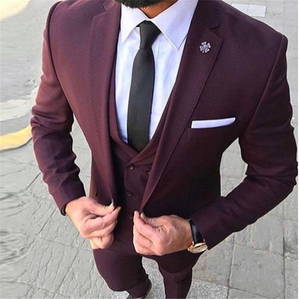 how to serch best collection buy popular 2019 Latest Coat Pant Designs Wine Red Business Men Suit 2019 Prom Tuxedo  Slim Fit Groom Dress Men Wedding Suits Blazer Terno From Sweatcloth,  $124.24 ...