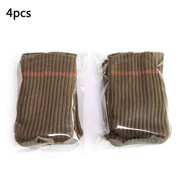 4pcs Anti-slip Table Furniture Feet Sleeve Cover Protectors Chair Leg Socks Cloth Gloves Floor Protection Knitting Wool Socks