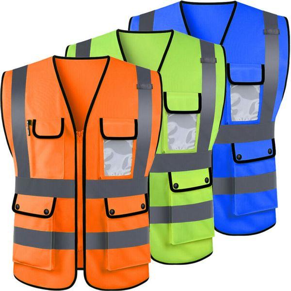 Travailleur haute visibilité gilet de sécurité veste nuit sécurité gilet réfléchissant sans manches vêtements de sécurité