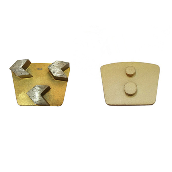 best selling High Sharpness Concrete Grinding Tools Metal Bond Trapezoid Grinding Pads Two Pins Redi Lock for Concrete Grinder 12PCS