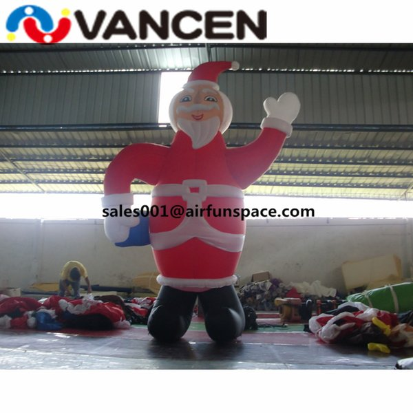 Large 6mH inflatable christmas santa claus with air blower oxford cloth inflatable christmas ornamental toys from China
