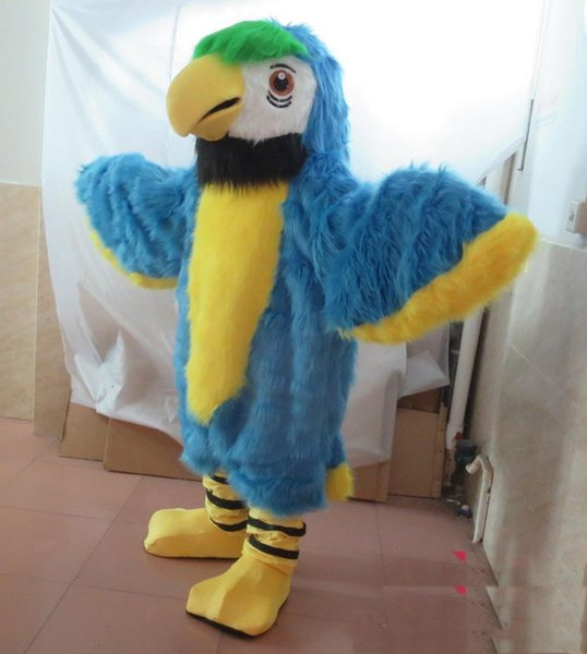 2019 Discount factory sale adult parrot bird mascot costume with one mini fan inside the head