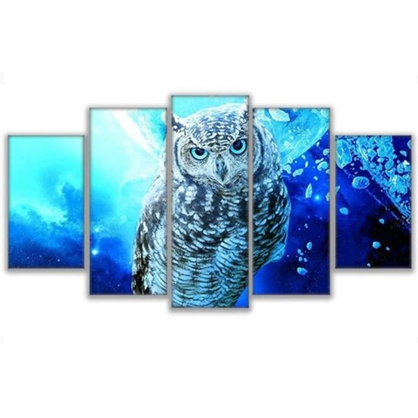 5pcs Full Square Drill 5D DIY Diamond Painting ice blue eagle Multi-picture Combination 3D Embroidery Mosaic Home Decor