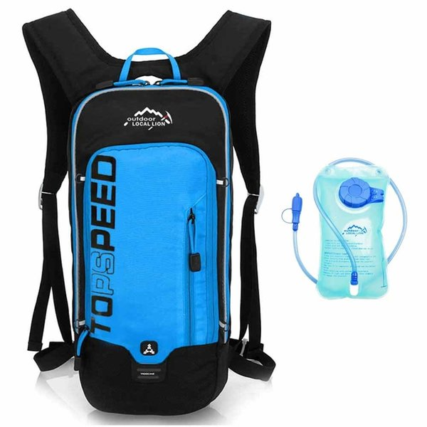Blue with water bag