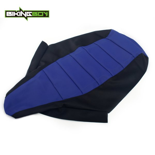 BIKINGBOY ATV Quad Blue Gripped Gripper Soft Seat Cover For Yamaha YFX 450 YFX450 2004 2005 2006 2007 2008 2009 2011 04-11