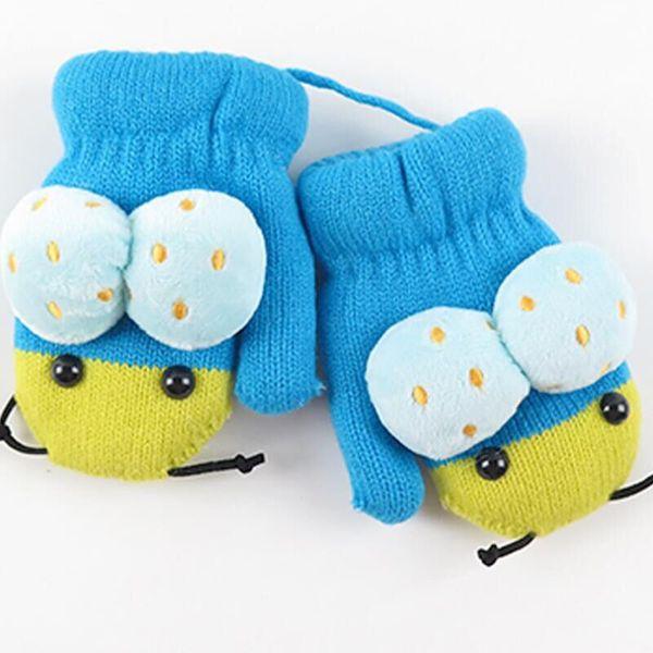 Cute Cartoon Winter Plus Velvet Thickening to Keep Warm Children Girl Mittens Warm for Little Girls Boys Winter Gloves