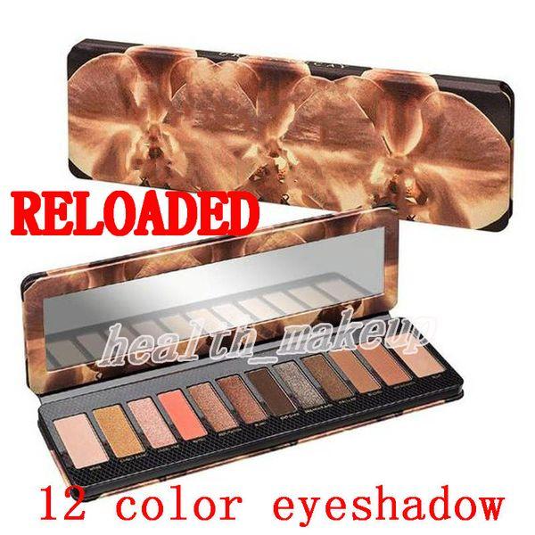 Brand co metic reloaded 12 color eye hadow himmer matte eye hadow makeup beauty palette dhl hipping