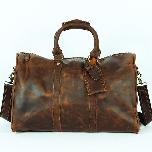 Mano di alta qualità del sacchetto delle donne degli uomini in pelle bovina genuina borsa obliqua Satchel Crossbody inclinato spalla Drop Shipping