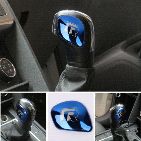 AEING Car Gear Shift Knob Gear Head Cover R Symbol Stickers for VW Volkswagen Golf 7 MK7 Golf 5 6 Passat B5