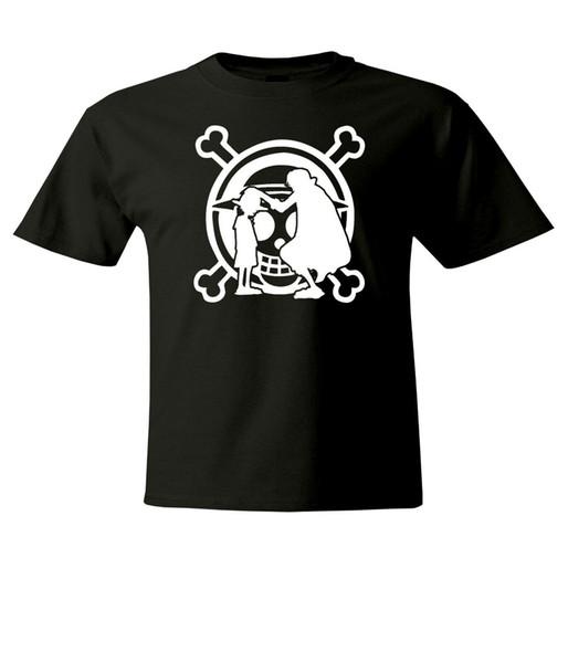 Una pieza del mono D Luffy Shanks Hombres Mujeres unisex de cuello redondo tapa corta de la camiseta de verano nuevo algodón de la manera Imprimir hombre