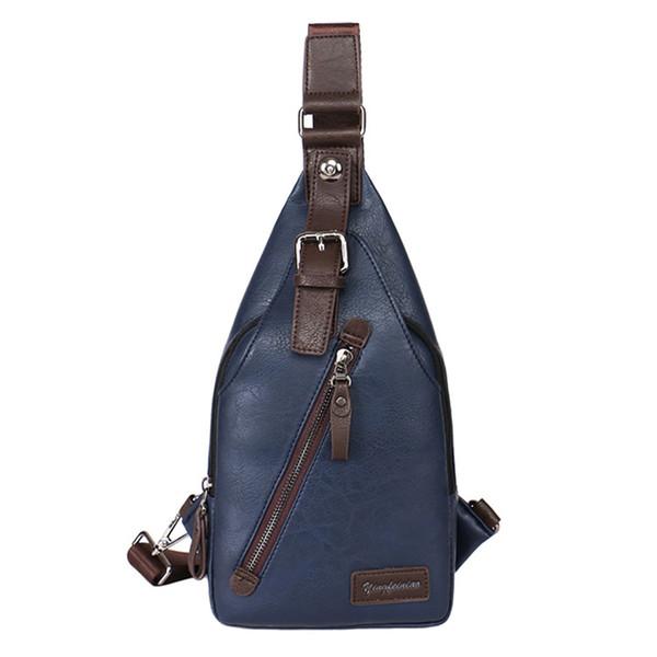 رجل جلد الصدر حبال الكتف عبر الجسم حقيبة دورة حقيبة الظهر حقيبة اليوم حزمة