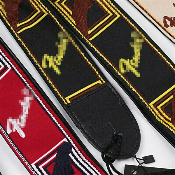 top popular Embroidered Guitar Strap Fendr Straps for Electric Guitar Acoustic Ukulele Bass 2020