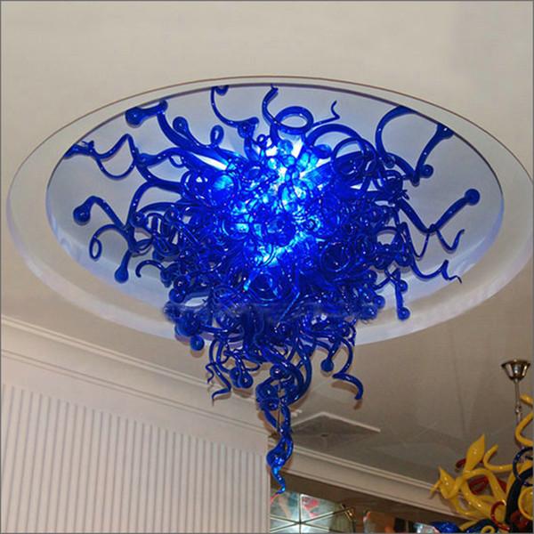 Chegada nova Preço Barato Vidro Soprado Chihuly Estilo Art Design Lustre Galss Pendurado Cadeia de Estilo Europeu Handmade Lustres