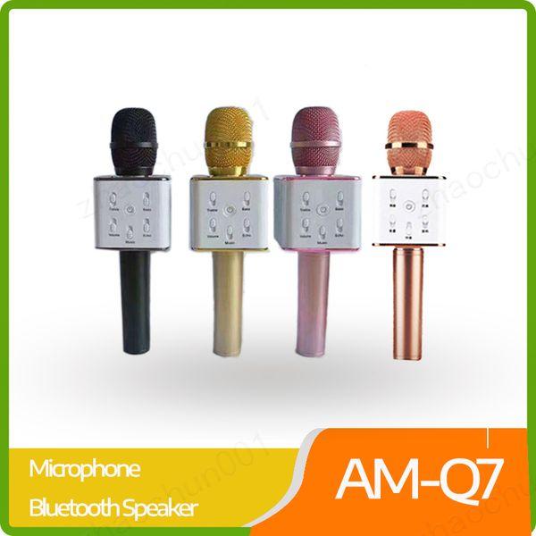 Q7 drahtloses Mikrofon Bluetooth-Lautsprecher mit 2600mAh großer Kapazität Batterie Karaoke-Lautsprecher für Iphone7 sowie Xiaomi Samsung