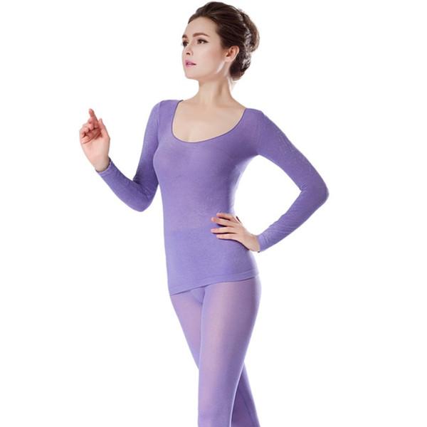Dikişsiz Paçalı Don Kadın Kış 37 Derece Sabit Sıcaklık Termal İç Çamaşırı Kadın Ultra-ince Elastik Termo İç Çamaşırı