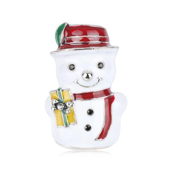 Joyeux Noël Thème Broche mignon de bonhomme de neige de Noël Topper Broche meilleur cadeau de Noël pour les amis et les amoureux