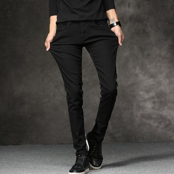 new fashion men's black jeans fashion brand jeans large sales spring summer slim men's trousers - from $23.18